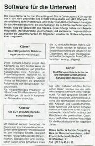 www.cmsattler.com - Claus Michael Sattler 1992.01.05 AEG-News Klaerex Kabesa Kanis